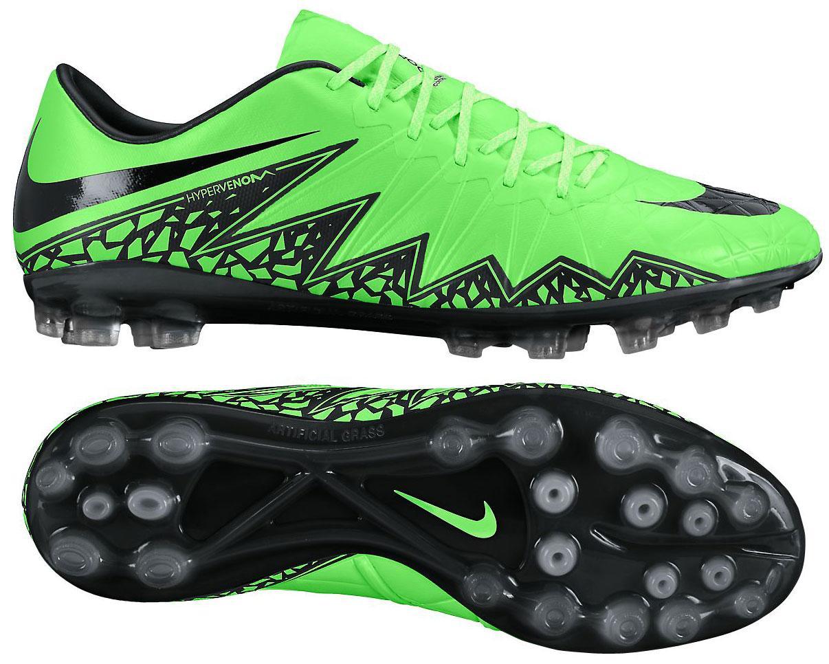 Nike Hypervenom Phinish AG Grön/Svart/Neon