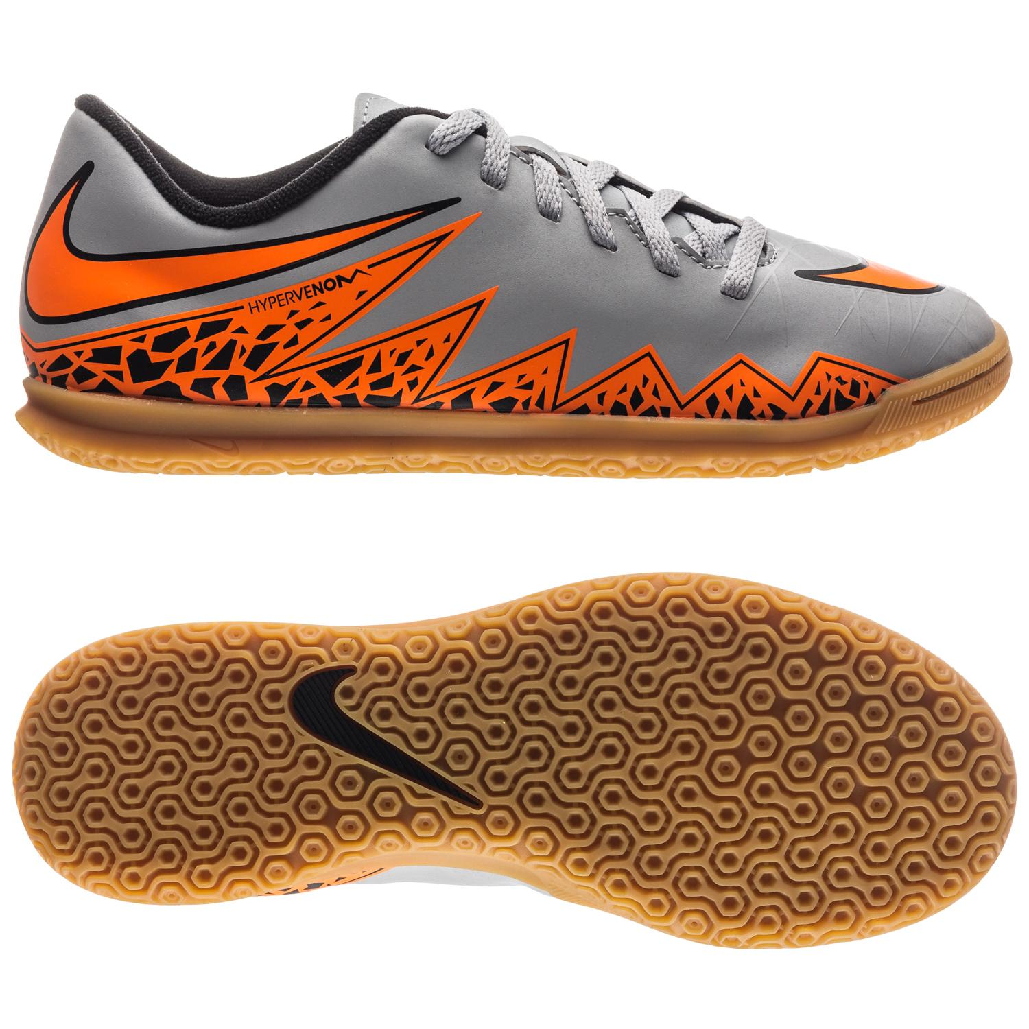 Nike Hypervenom Phade II IC Grå/Orange/Svart Barn