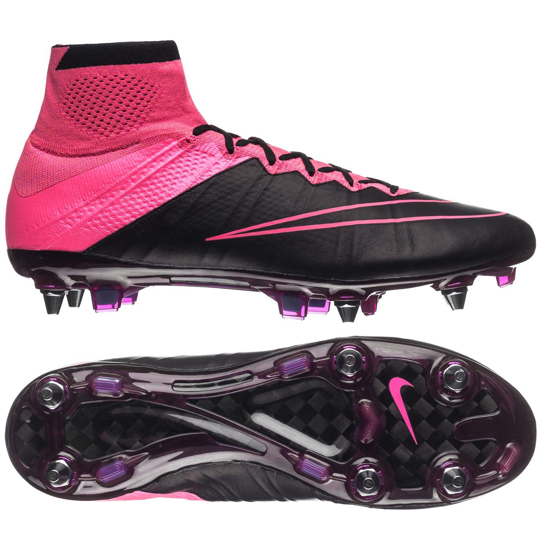 Nike Mercurial Superfly Läder SG-PRO Svart/Pink