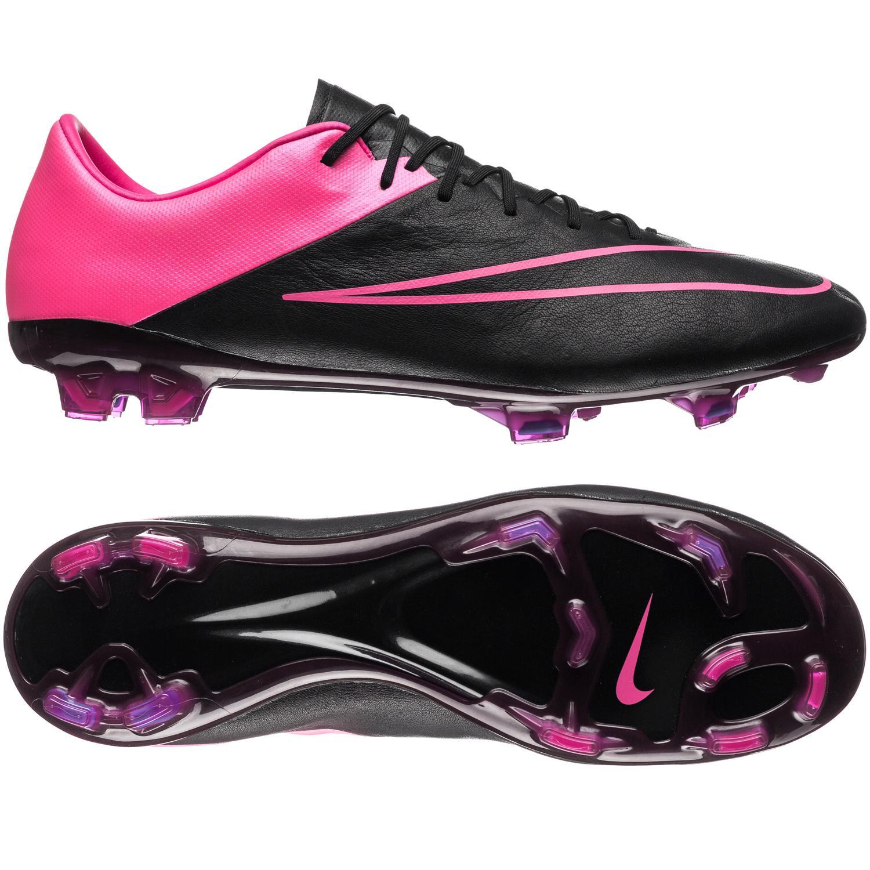 Nike Mercurial Vapor X Läder FG Svart/Pink