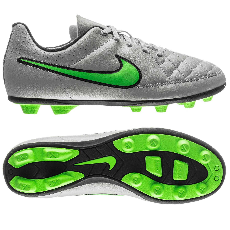 Nike Tiempo Rio II FG Grå Grön Barn 22b076f8ef575