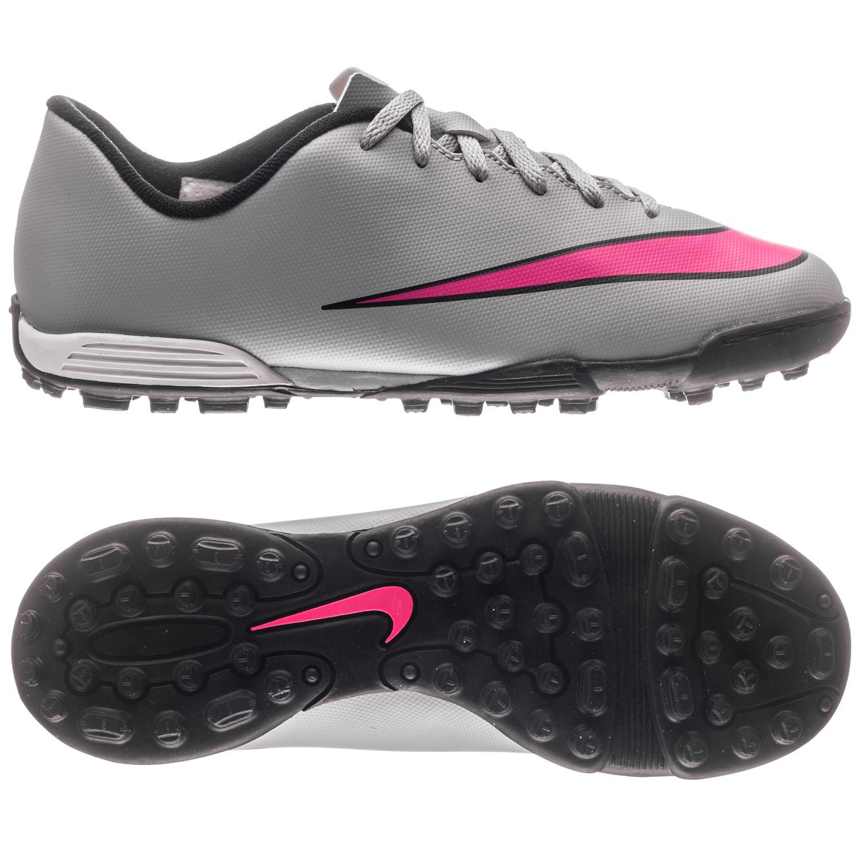 Nike Mercurial Vortex II TF Grå Pink Svart Barn a3bf53147867e