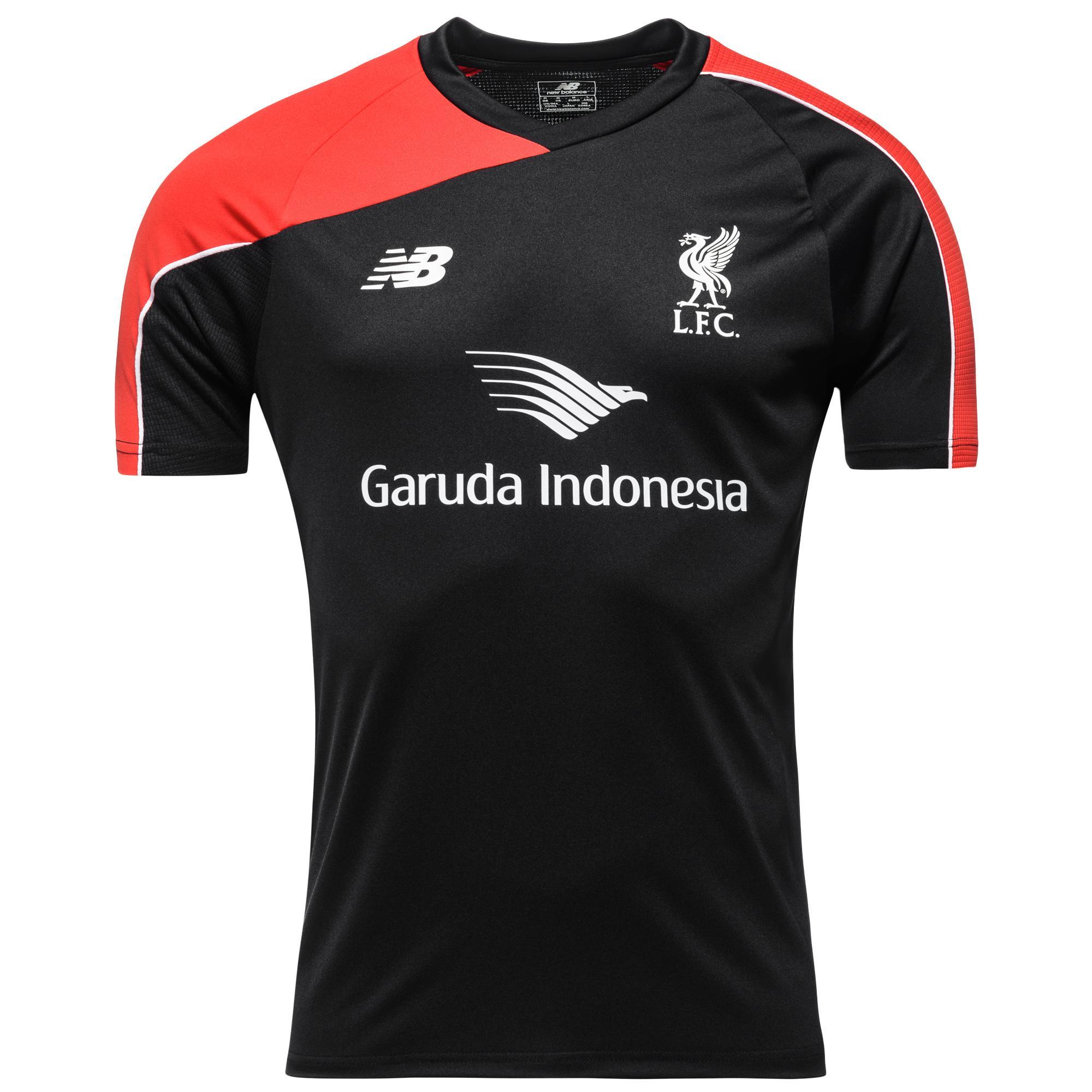 Liverpool Träning T-Shirt Svart/Röd