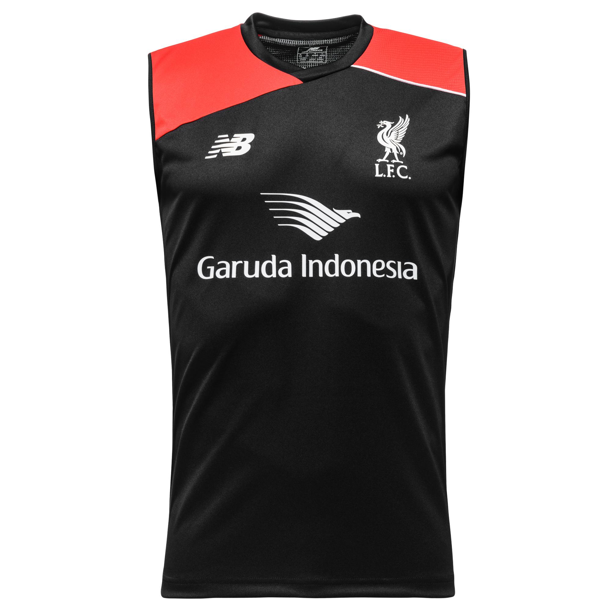 Liverpool Träning T-Shirt U/Ä Svart/Röd