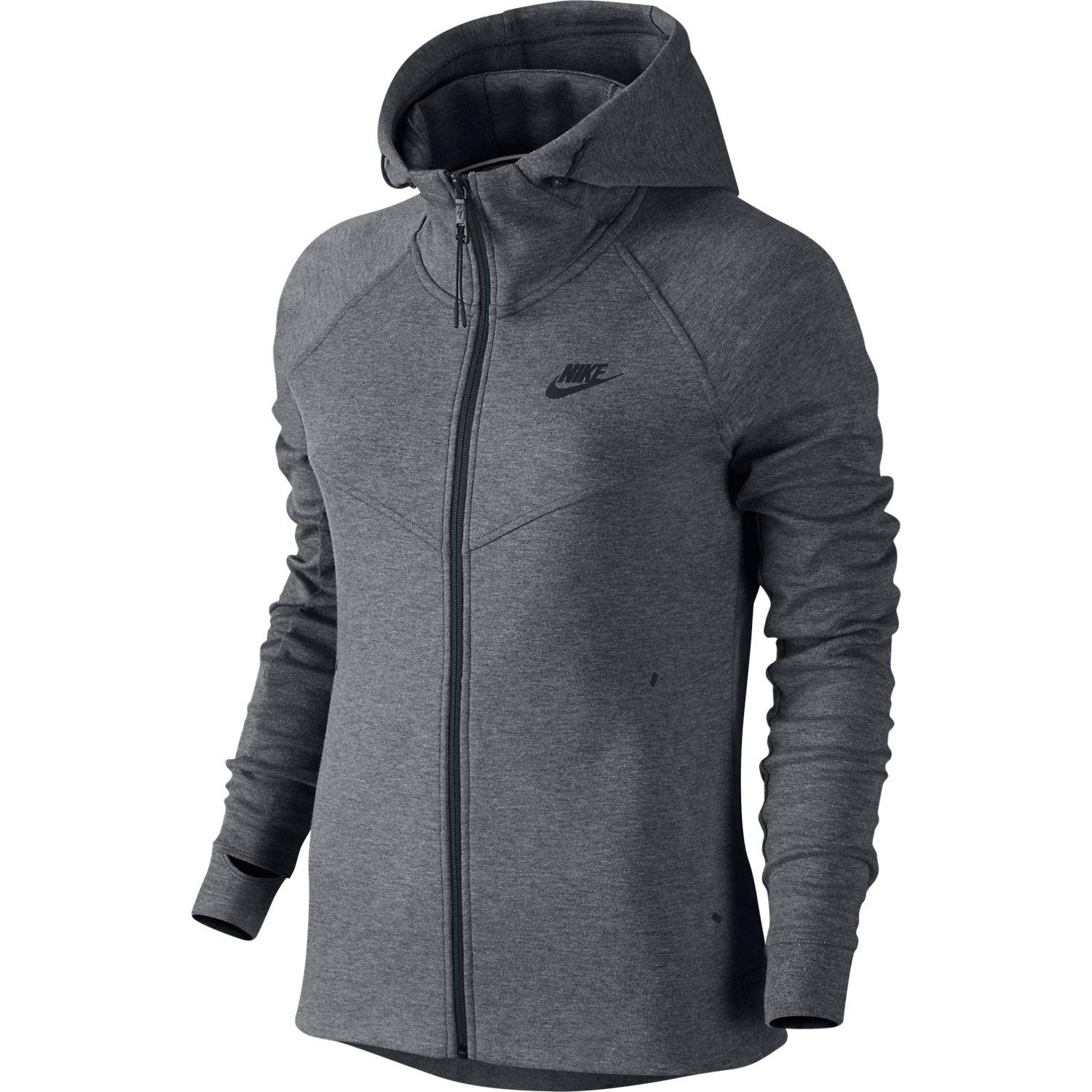 Nike - Tech Fleece Windrunner FZ Grå/Sort Dame