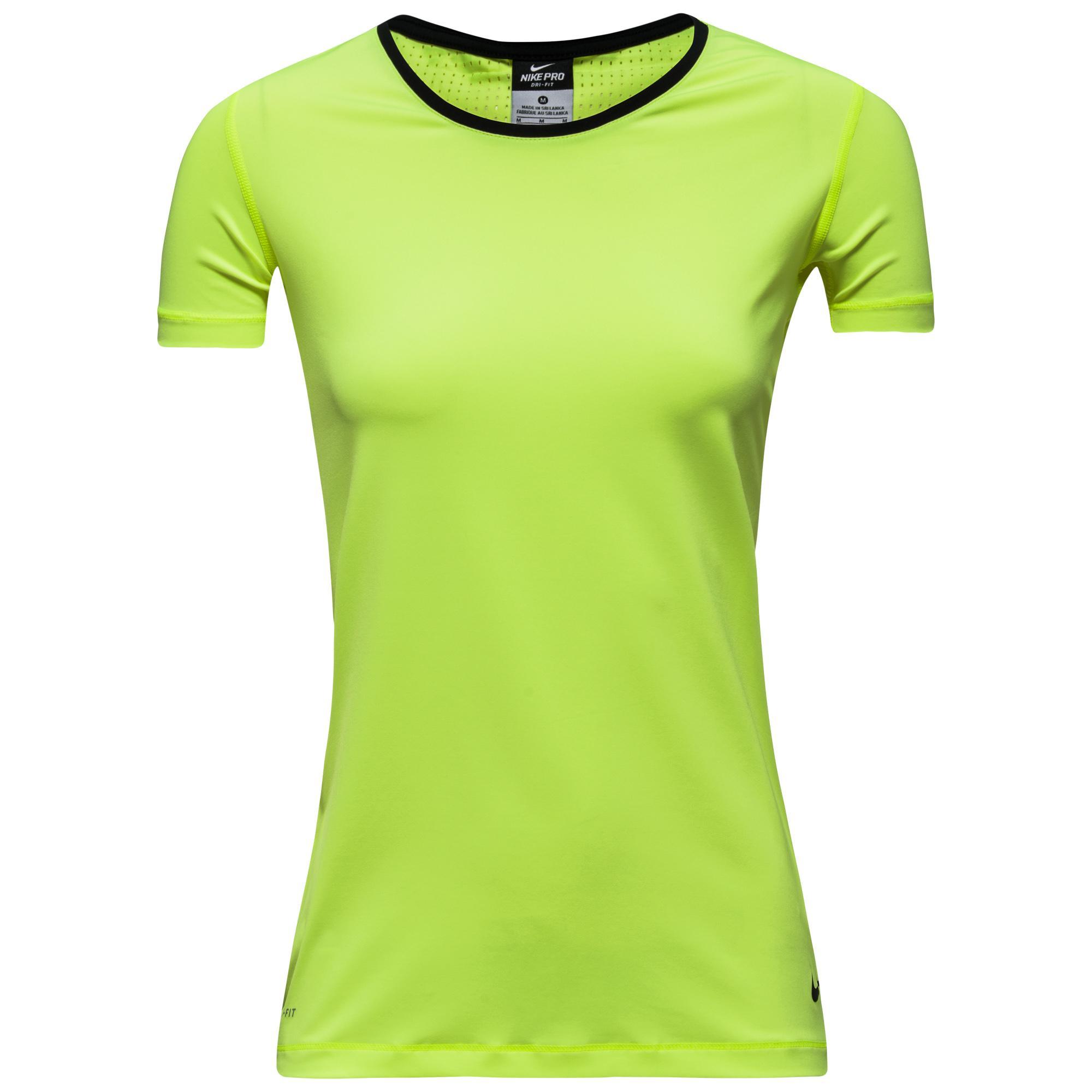 Nike T-Shirt Pro Hypercool Neon/Svart Dam