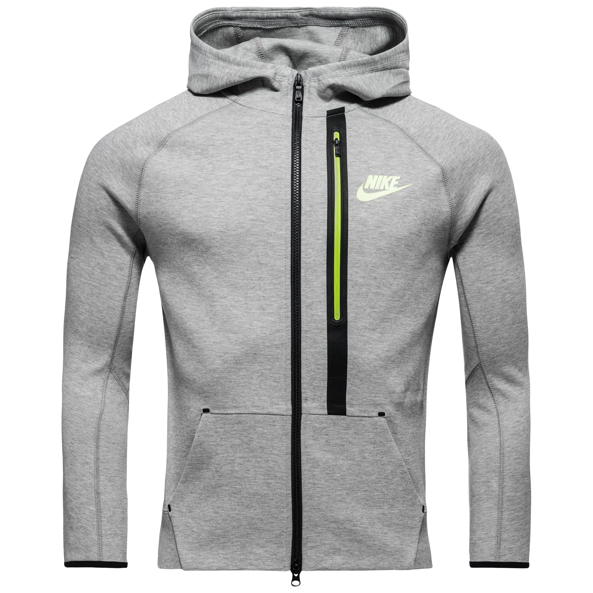 Nike Luvtröja Tech Fleece FZ Grå/Neon Barn