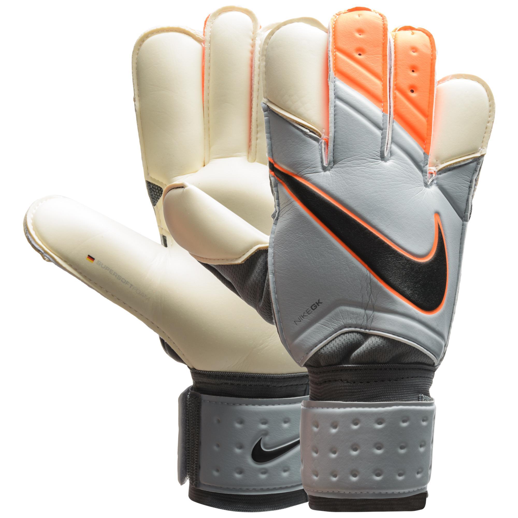 Nike Målvaktshandske Grip 3 Grå/Orange