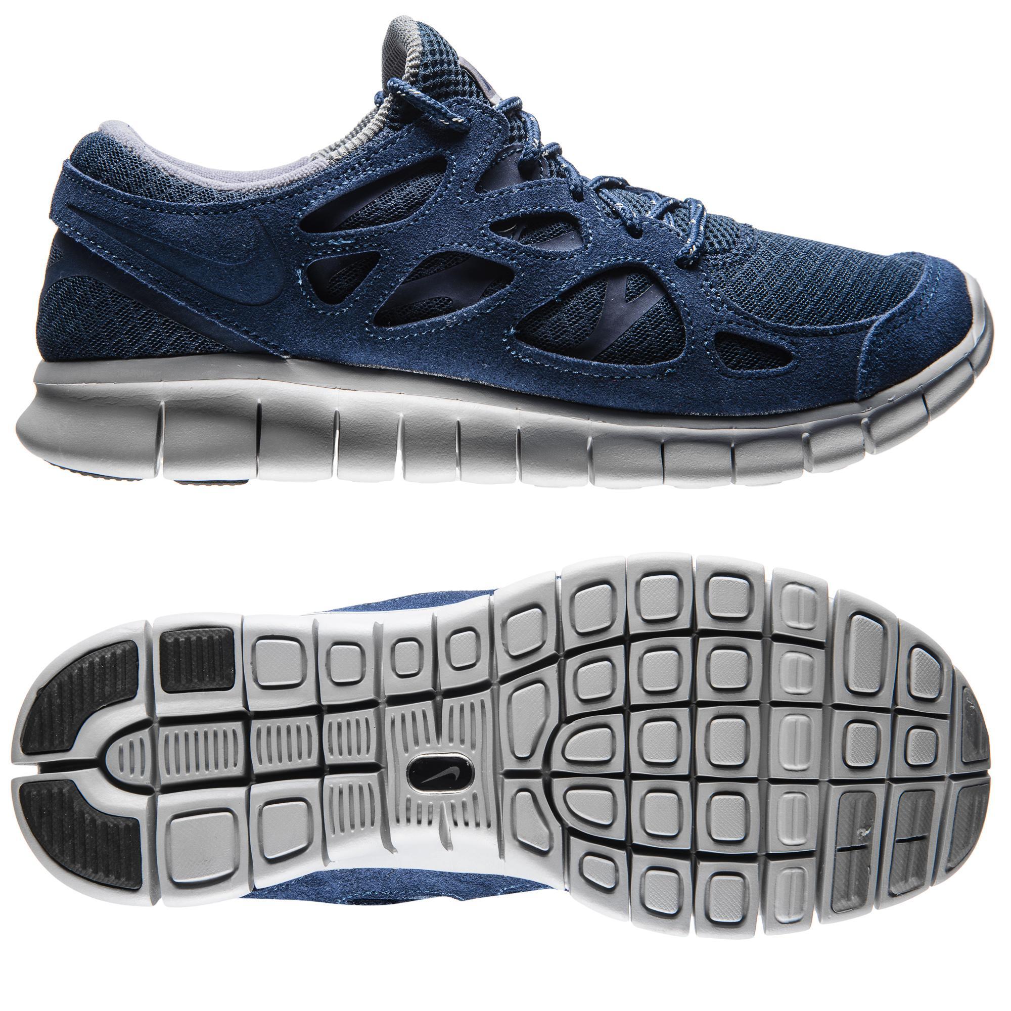 Nike Free Löparskor Run 2 Navy/Grå