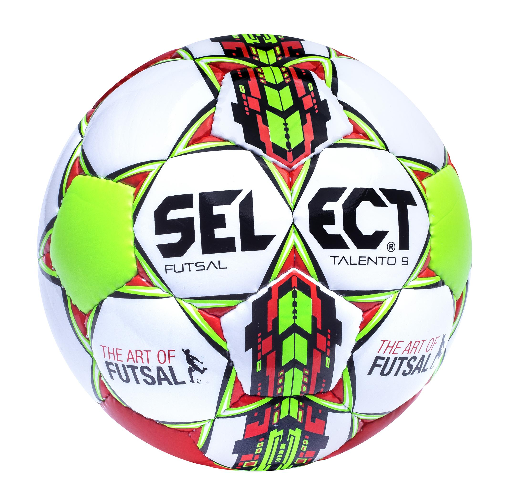 Select Fotboll Futsal Talento 9 Vit/Grön/Röd Barn