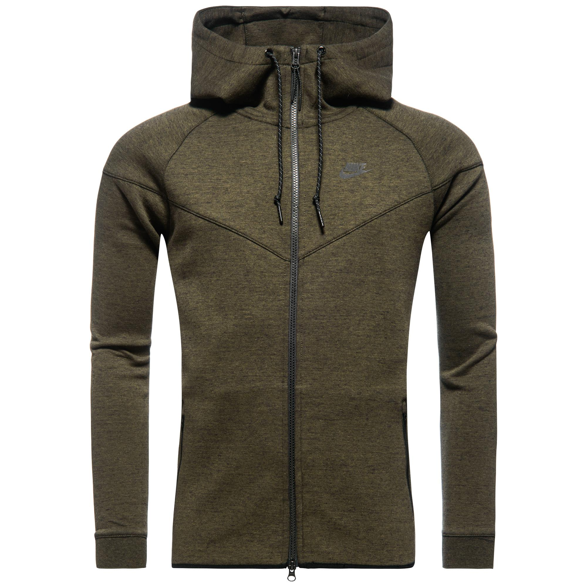 Nike Tech Fleece Windrunner Grön/Svart
