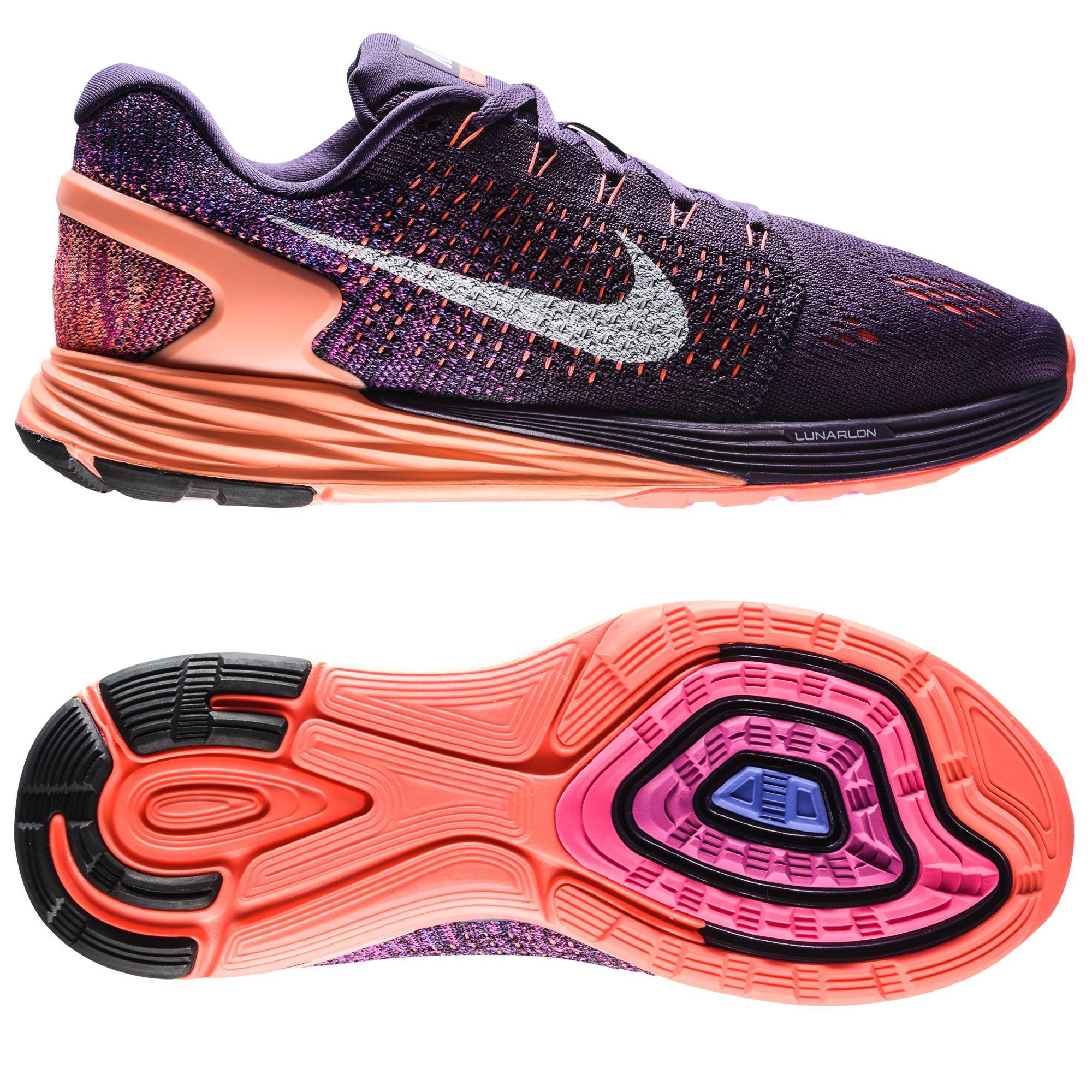 Nike Löparskor Lunarglide 7 Lila/Orange/Vit Dam