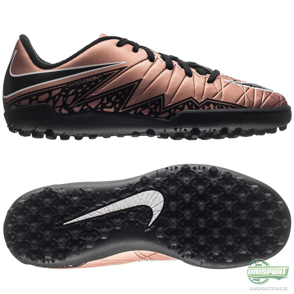 sports shoes 9f1c9 0dd00 Nike Hypervenom Phelon II TF Brons Svart Grön Barn