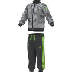 adidas Messi Trainingspak Mini Me Space Dust Grijs-Wit-Groen Kinderen