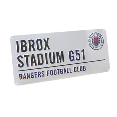 Glasgow Rangers - Vejskilt Ibrox Stadium