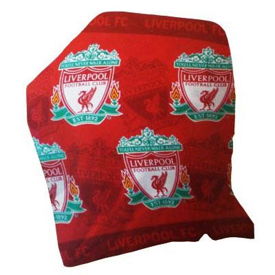 Liverpool - Tæppe Fleece Logoer