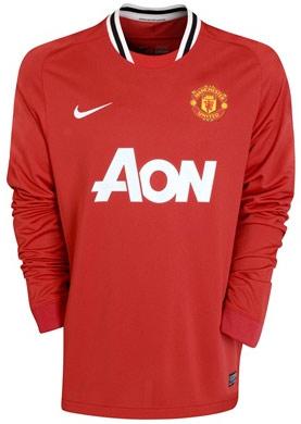 Manchester United - Hjemmebanetrøje 11/12 Børn L/Æ