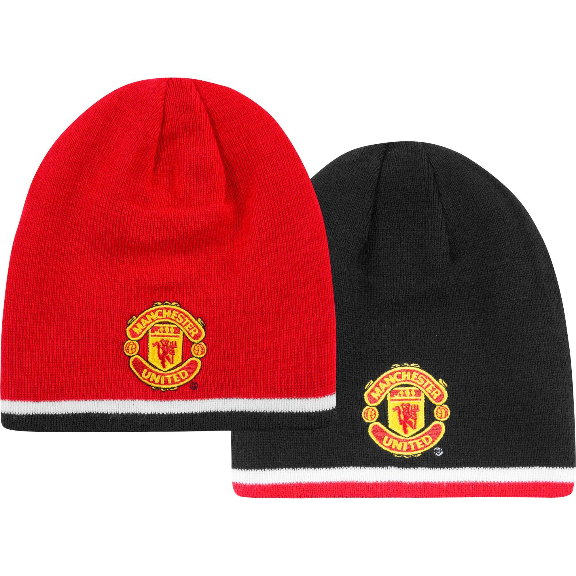 Manchester United Mössa Vändbar Svart/Röd