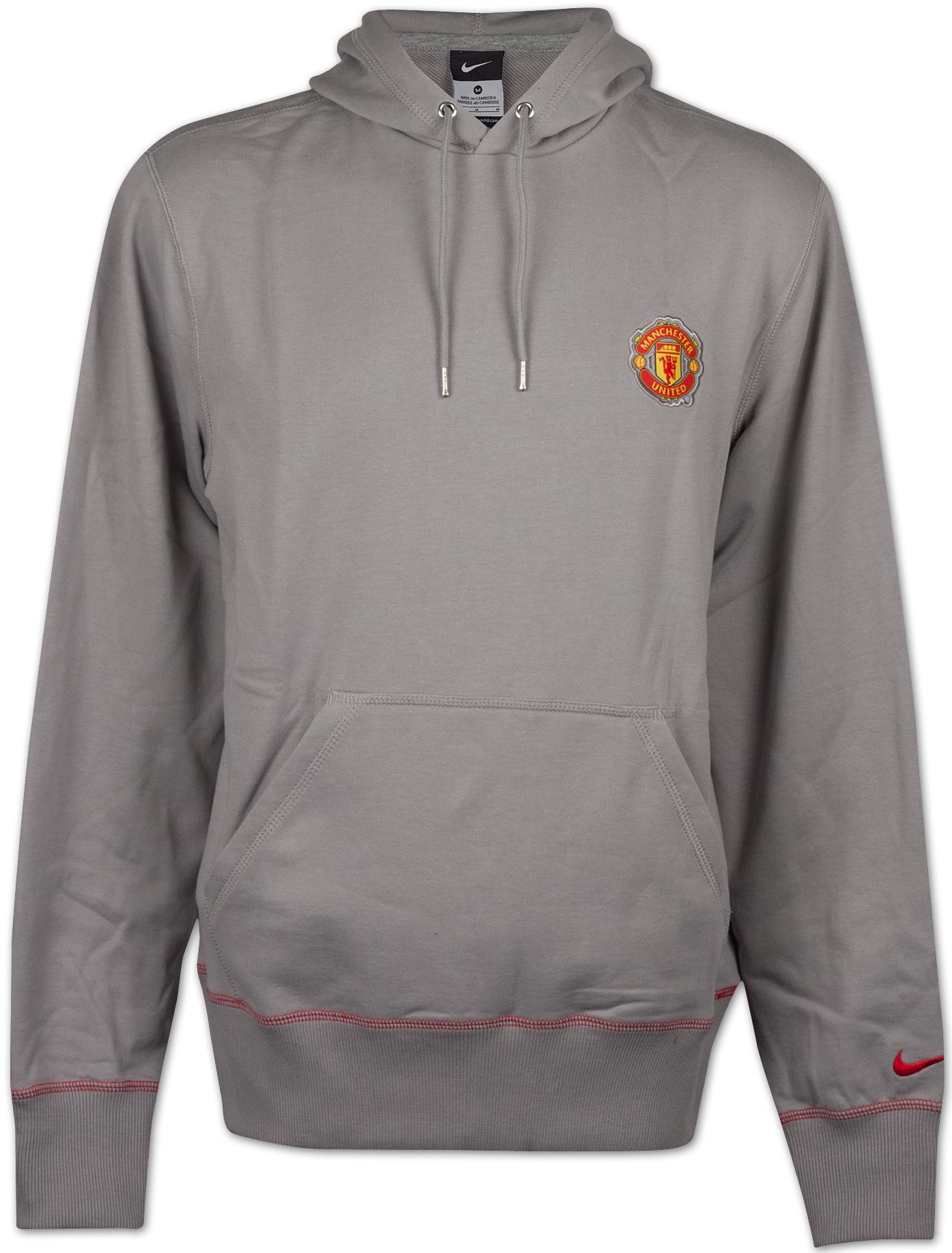 Manchester United - Hættetrøje Grå Logo