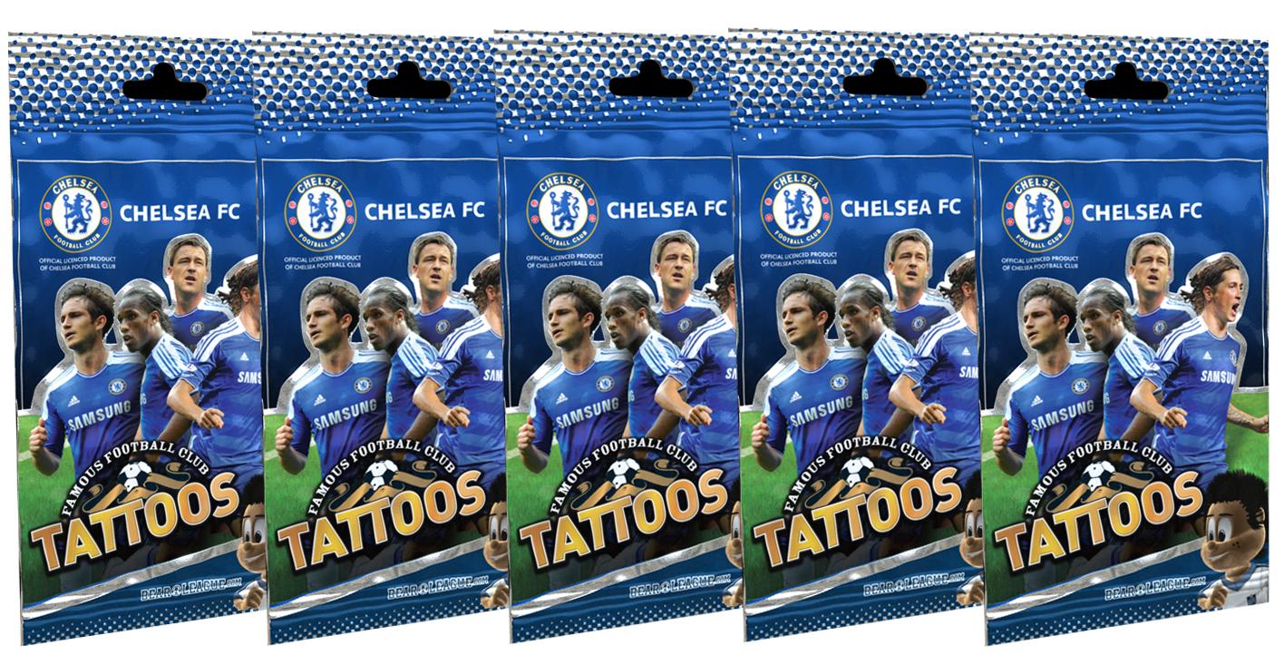 Chelsea - Famous Football Club Tattoos 5 Pak