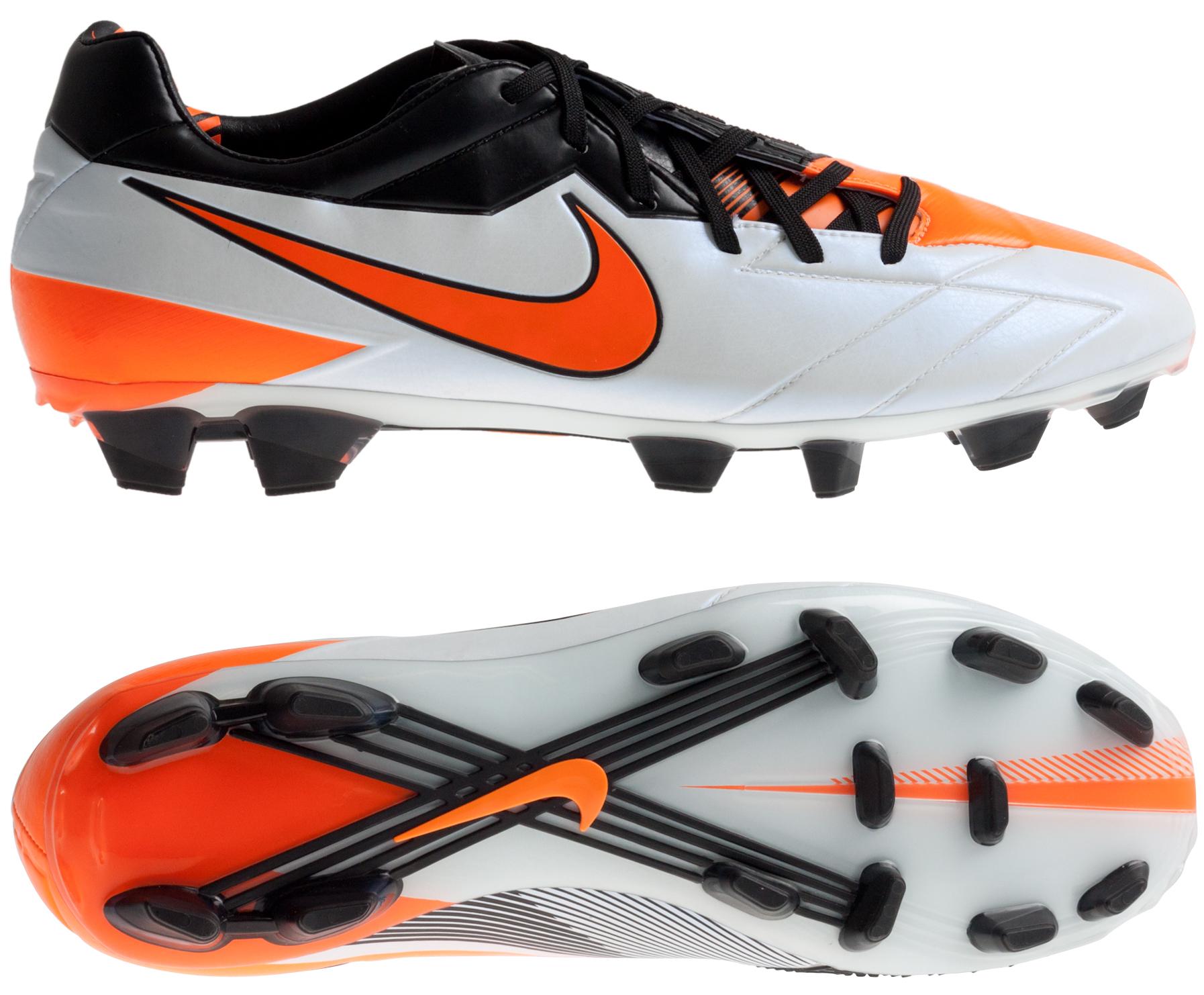 Nike - Total90 Laser IV FG Hvid/Sort/Orange