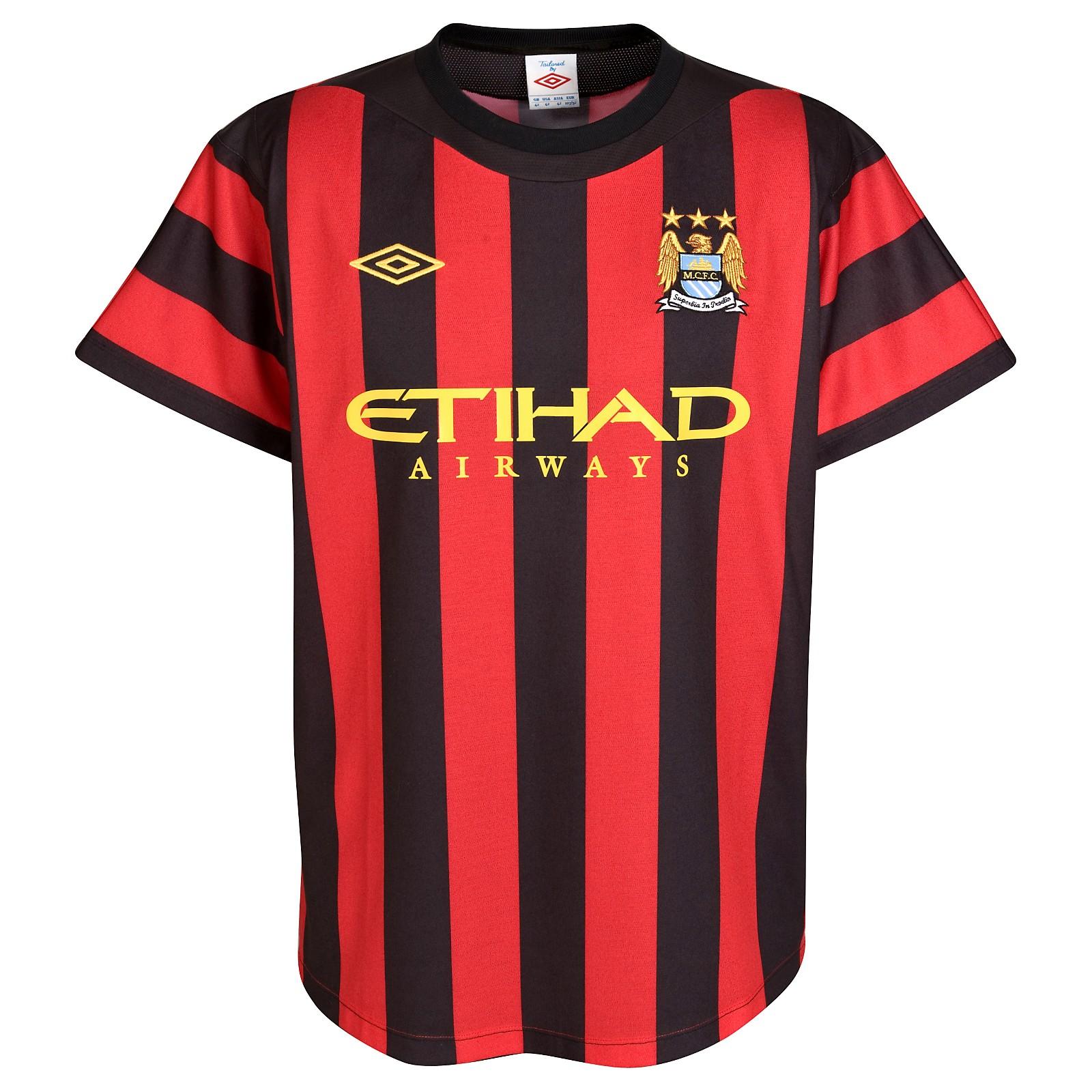 Manchester City - Udebanetrøje 11/12 Børn