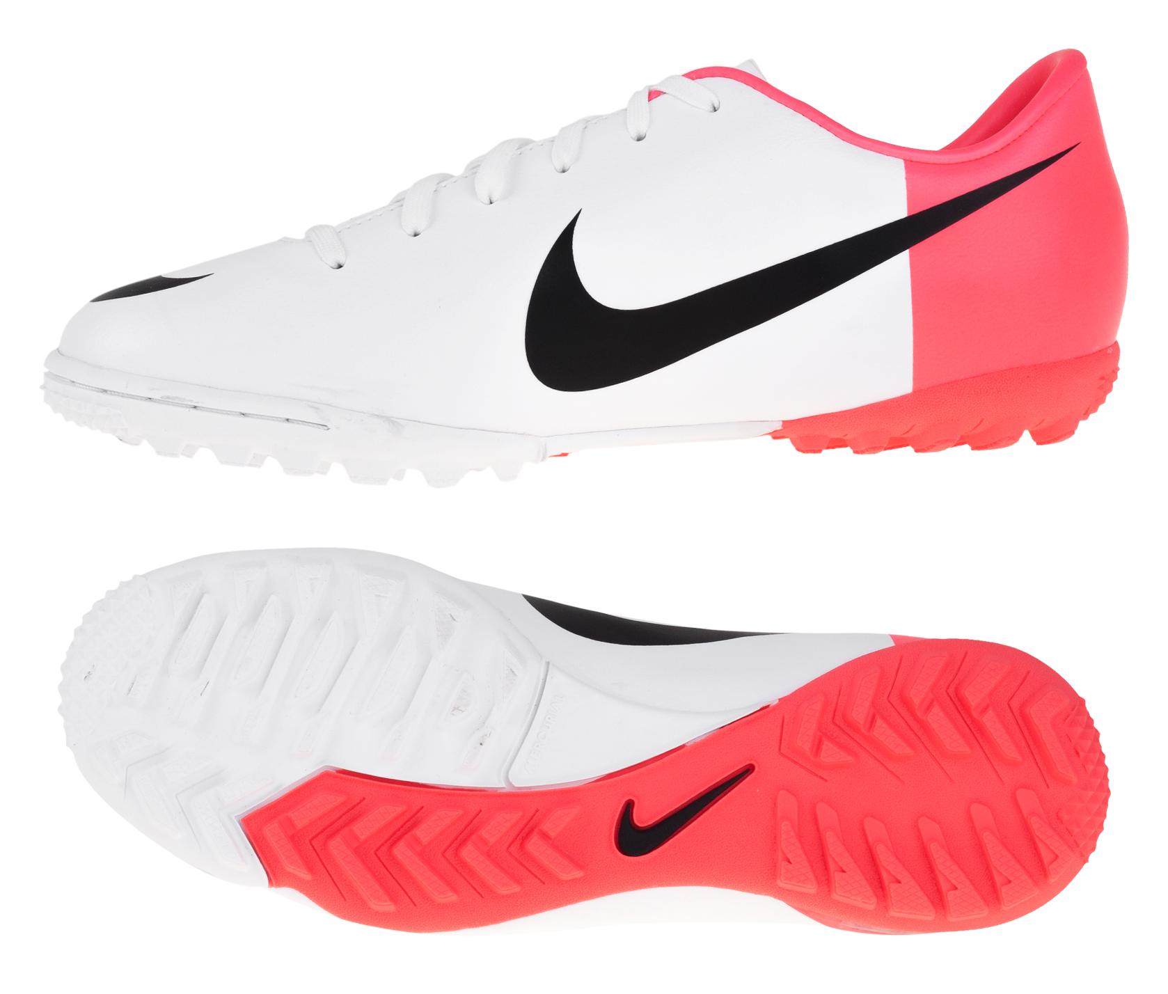 Nike - Mercurial Glide TF Hvid/Rød Børn