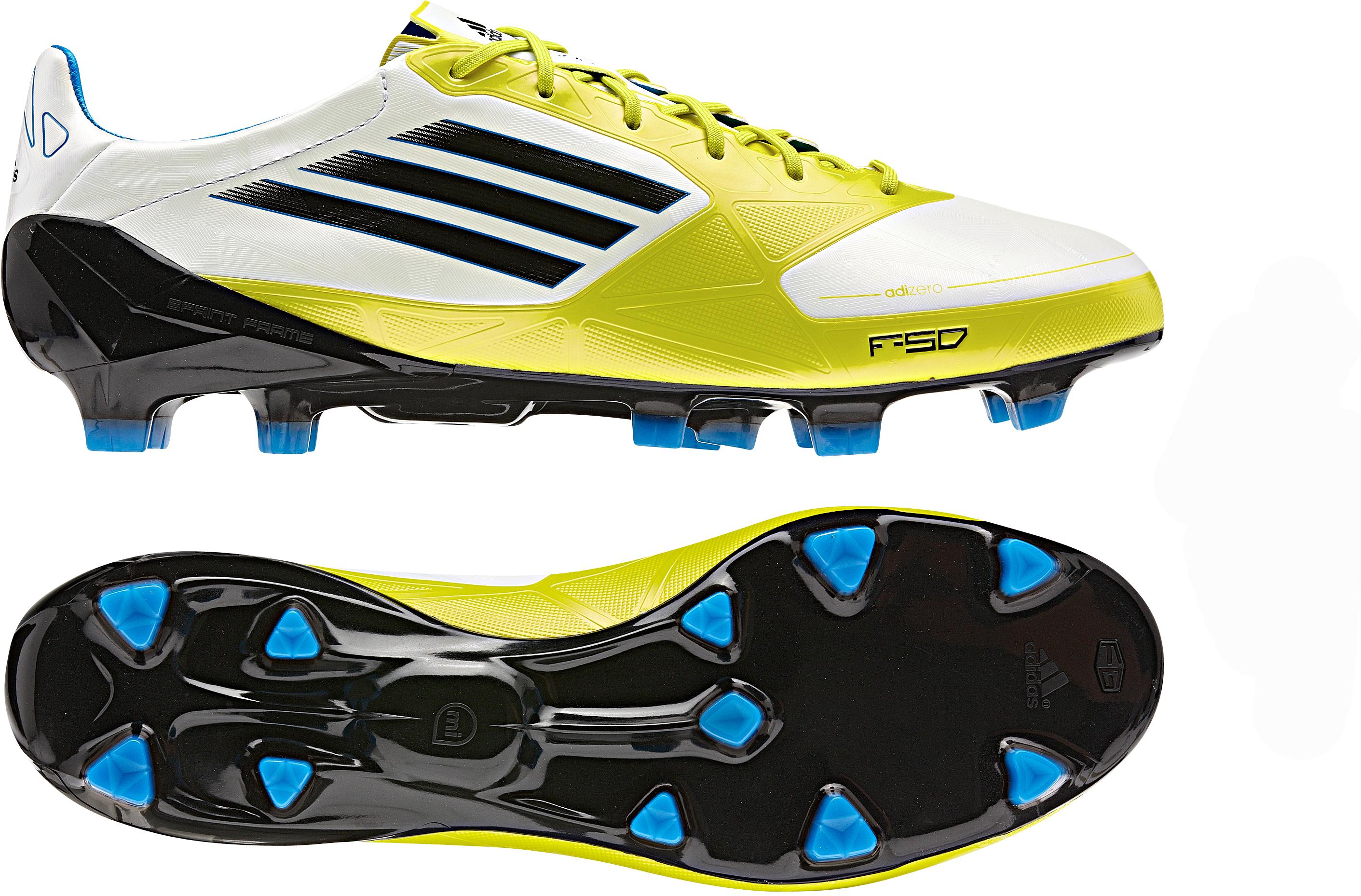 adidas - F50 Adizero FG Hvid/Lime/Sort