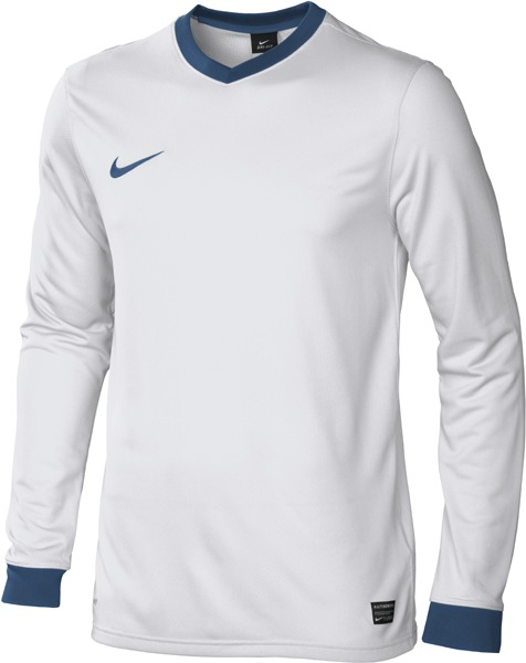 Nike - Spilletrøje Laser L/Æ Hvid/Blå Børn