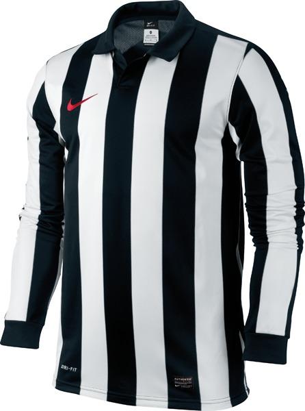 Nike - Spilletrøje Inter Stripe III L/Æ Hvid/Sort Børn
