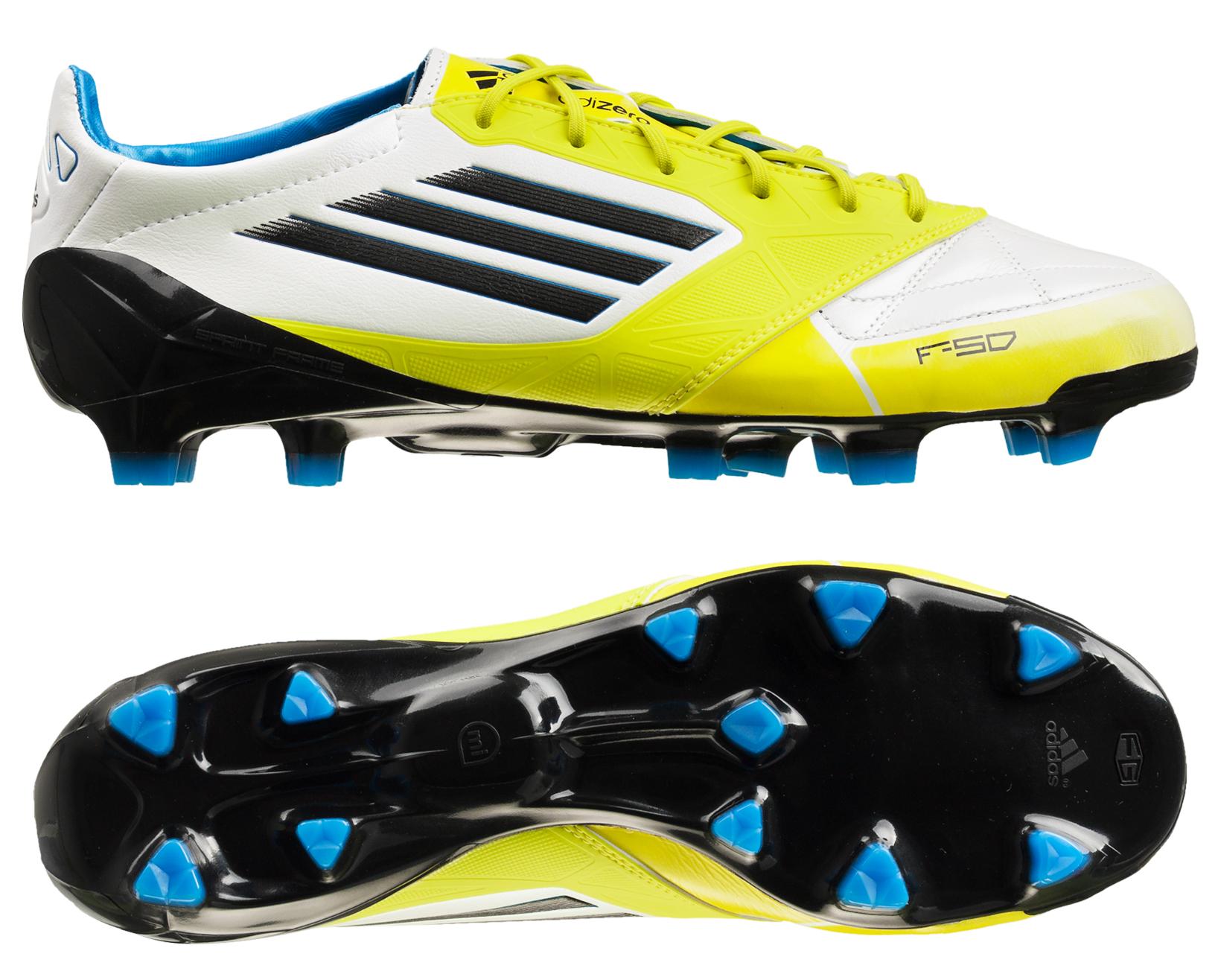 adidas - F50 Adizero Skind FG Hvid/Lime/Sort