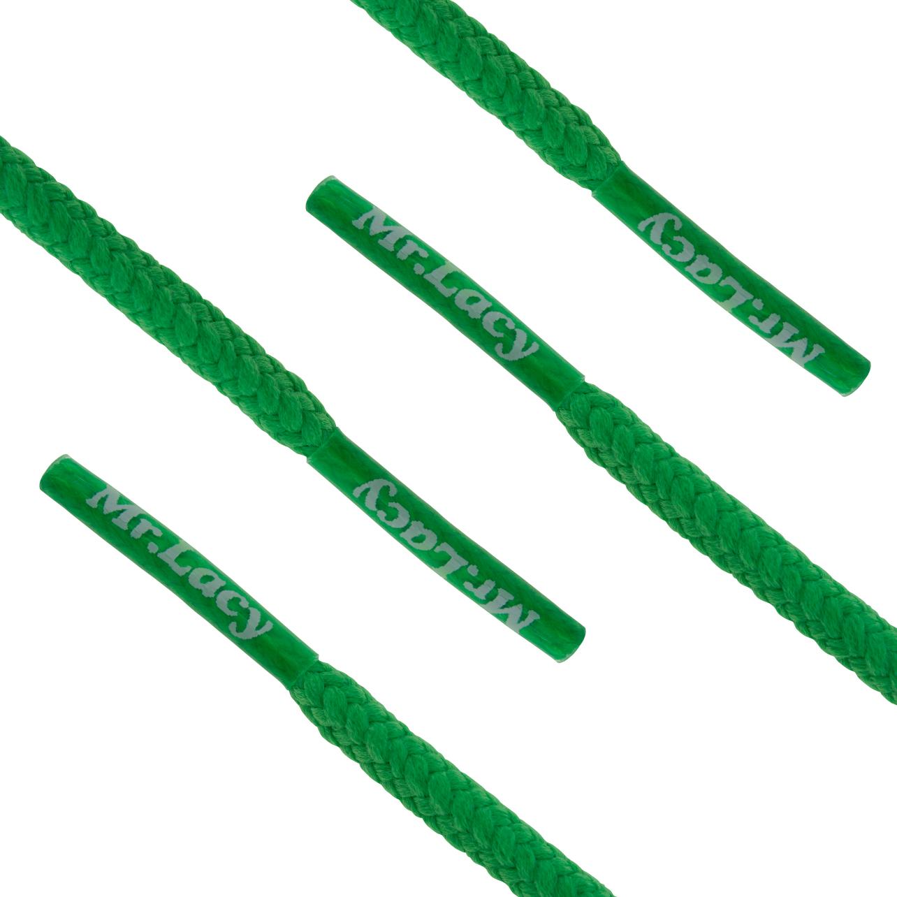 Mr. Lacy - Snørebånd Rund 130 cm Grøn