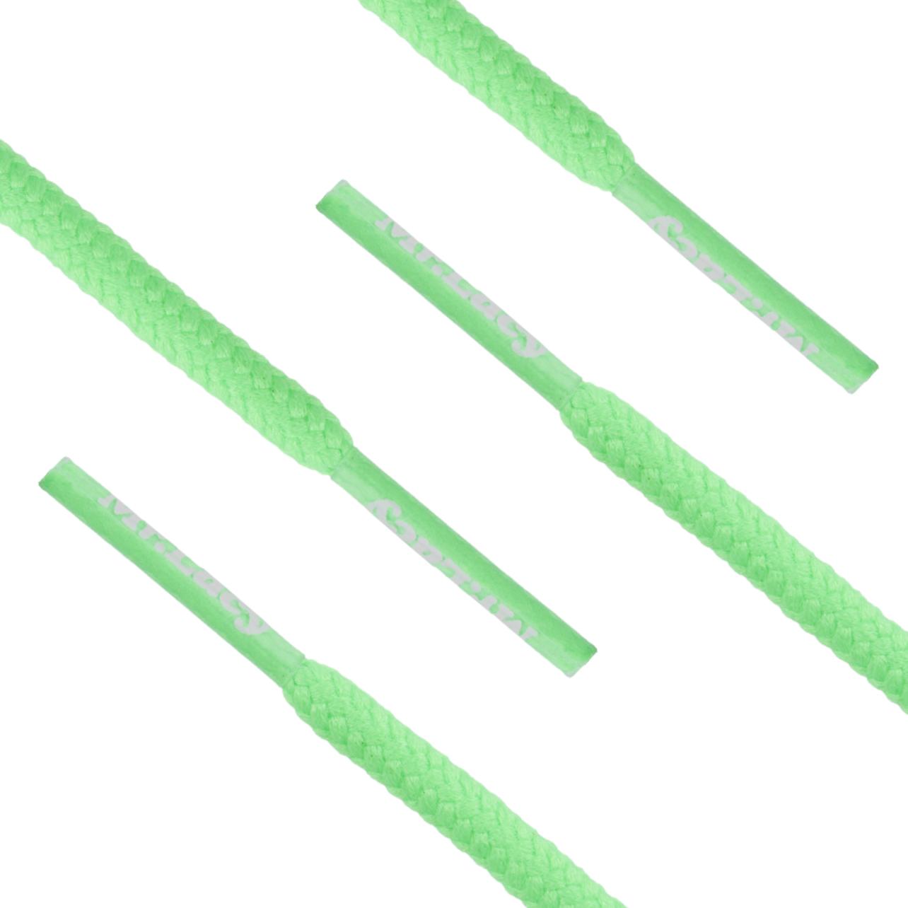 Mr. Lacy - Snørebånd Rund 130 cm Neongrøn