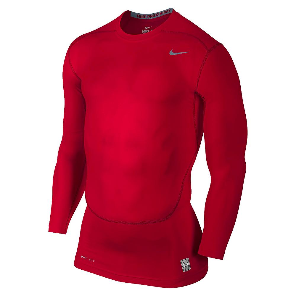 Nike Pro Combat Core Compression L/Ä Röd