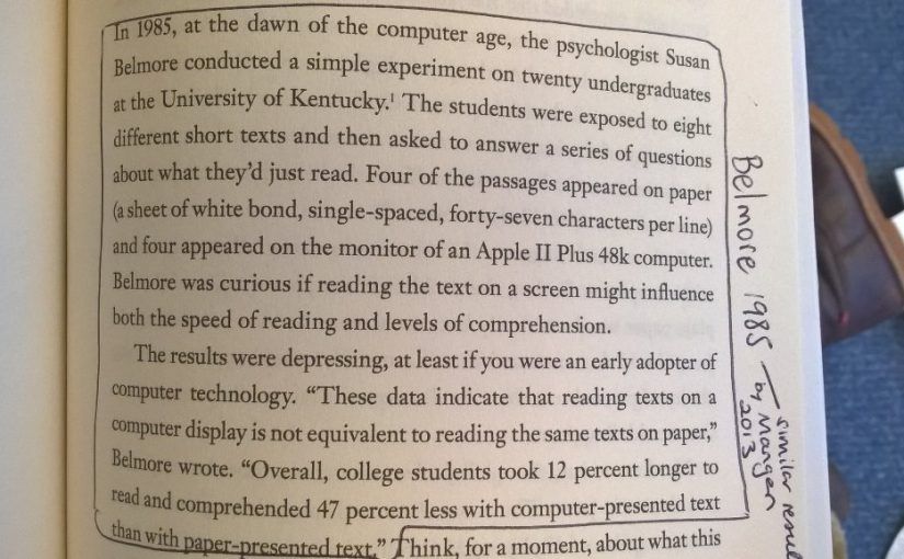 On our tendency for lower comprehension of texts when read online versus in printed media (keep it simple)