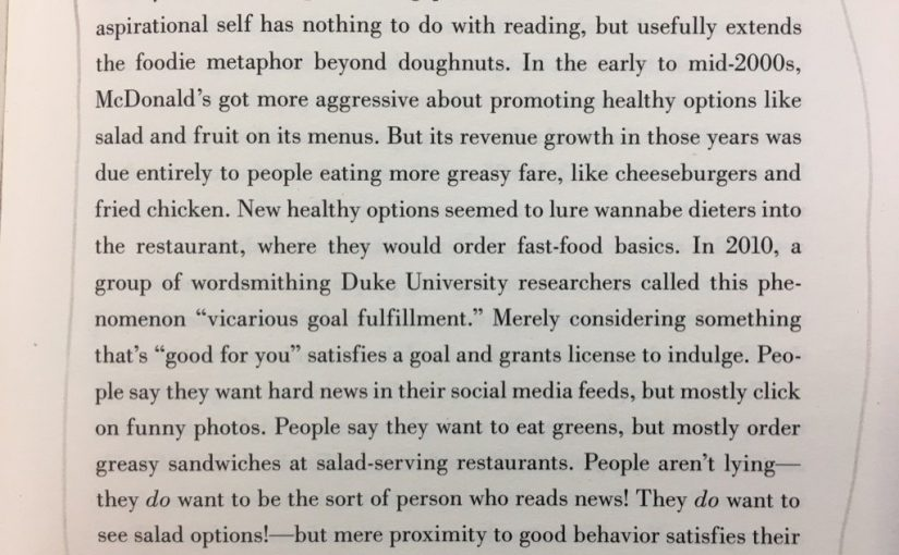 💎 On giving people a licence to indulge (McDonalds salads)