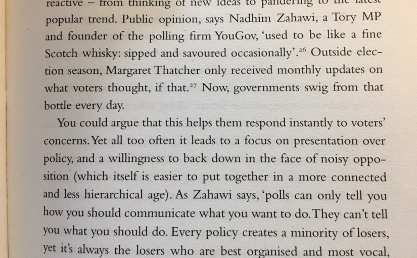 💎 On too much polling being bad for political parties (just like brands)
