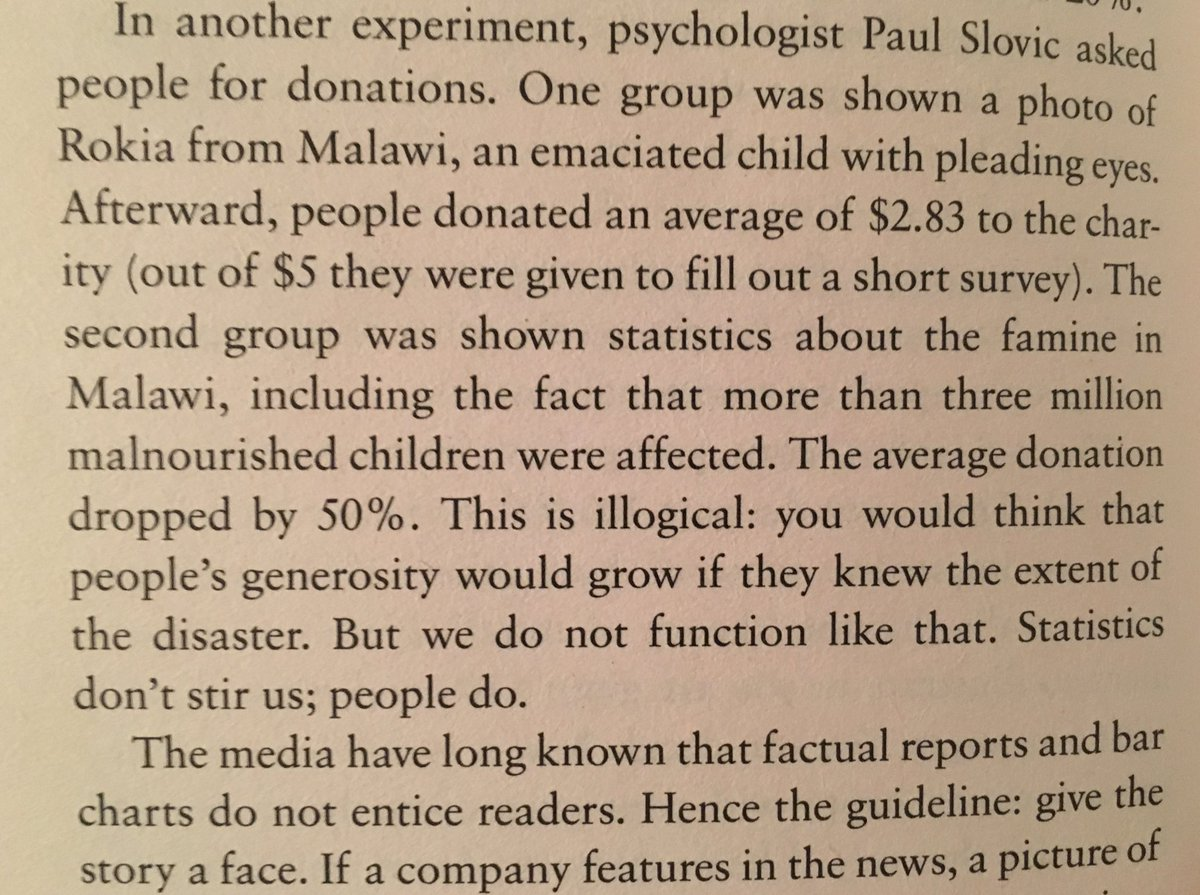 💎 On giving the story a face (statistics don't stir us, people do)