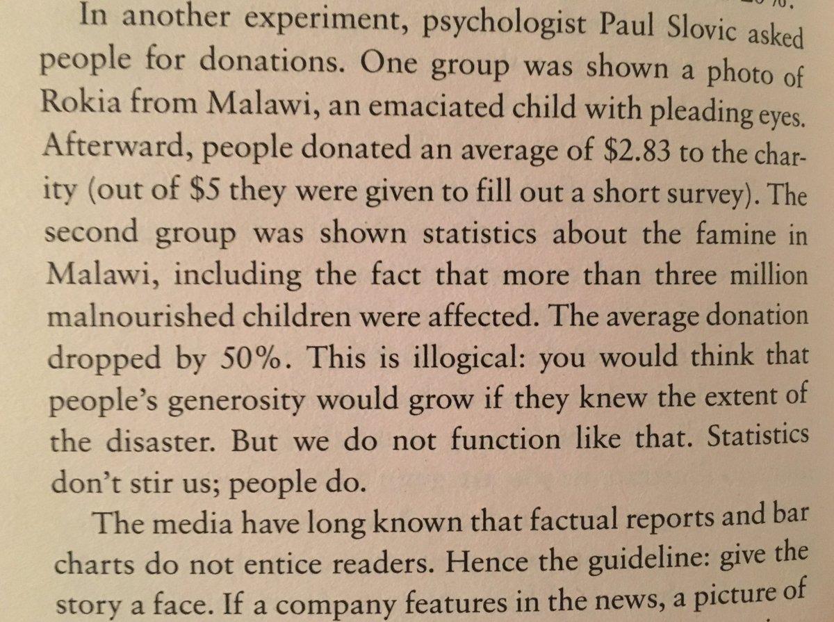 """Statistics Don't Stir Us, People Do"""