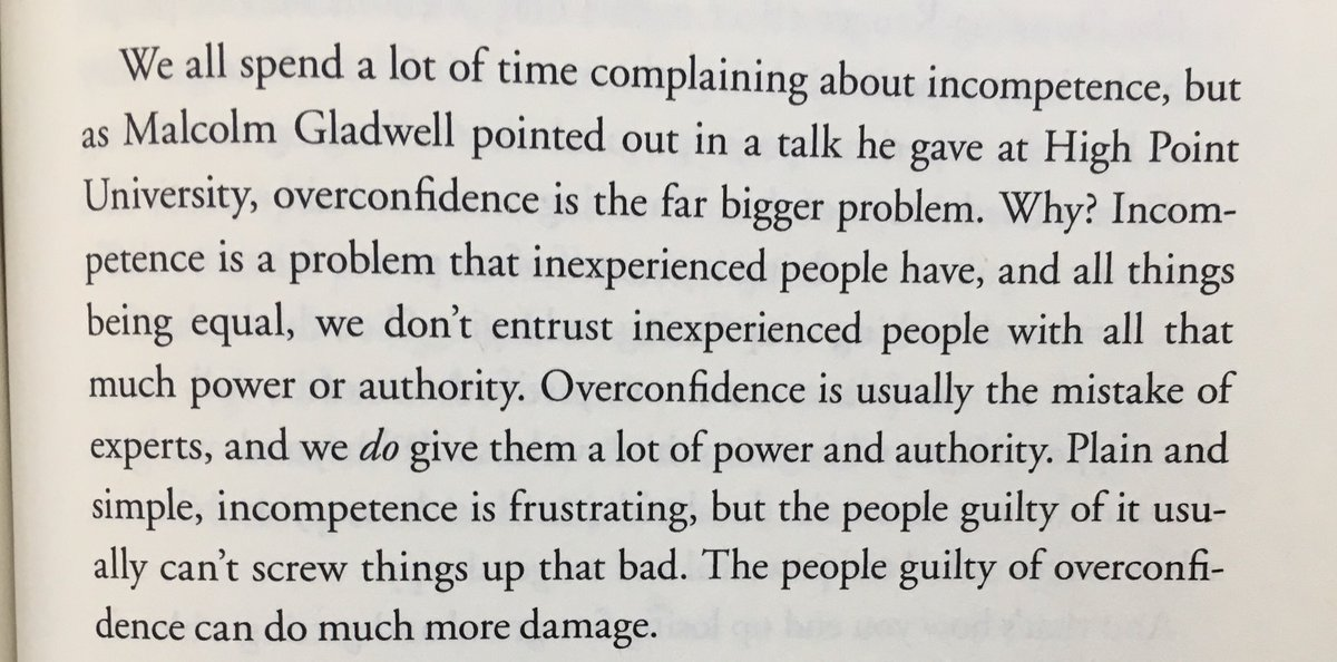 On Overconfidence Being a Bigger Problem than Incompetence