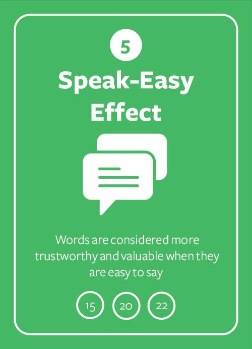 Speak-Easy Effect