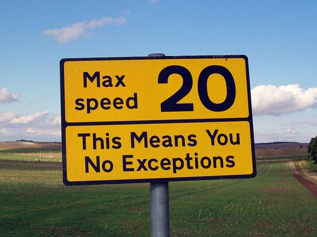 A speed sign that tries to get round the problem of habituation