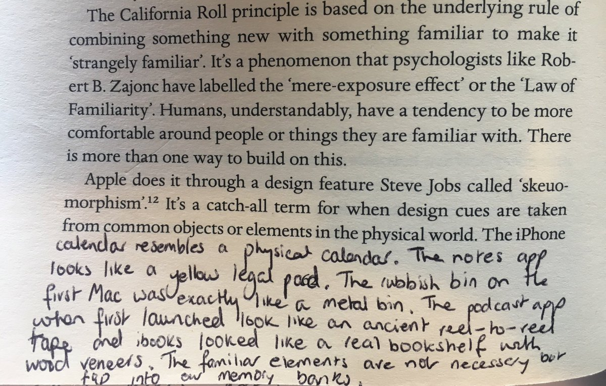 "Steve Jobs on how he made unfamiliar tech developments feel familiar through ""skeuomorphism"""