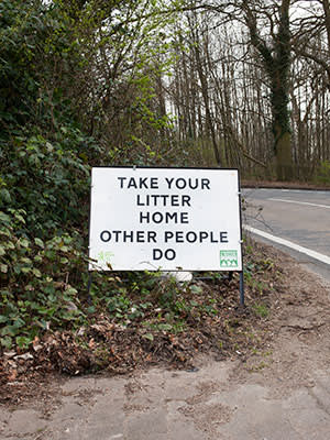 Simple sign harnessing social proof in Tonbridge, Kent
