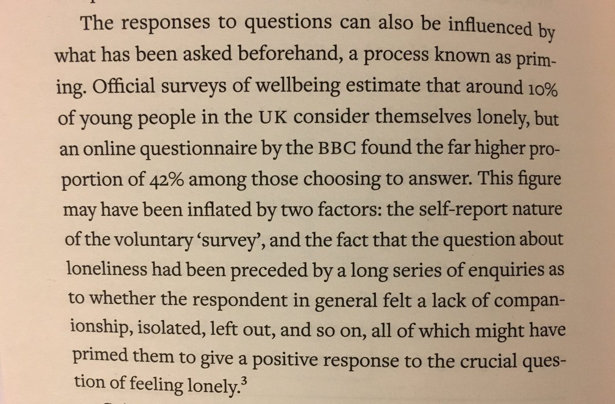 On the danger of priming in surveys