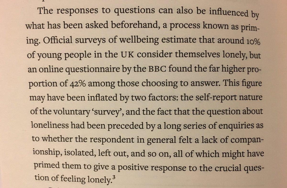 On the danger of priming in surveys