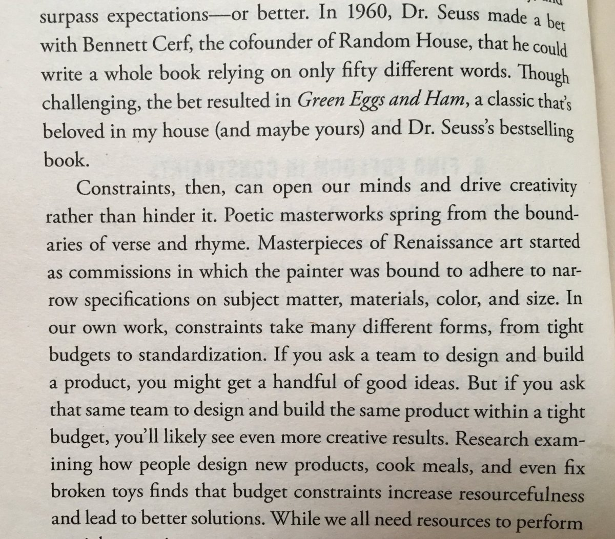 💎 On the power of constraints to drive creativity (writing Green Eggs and Ham)