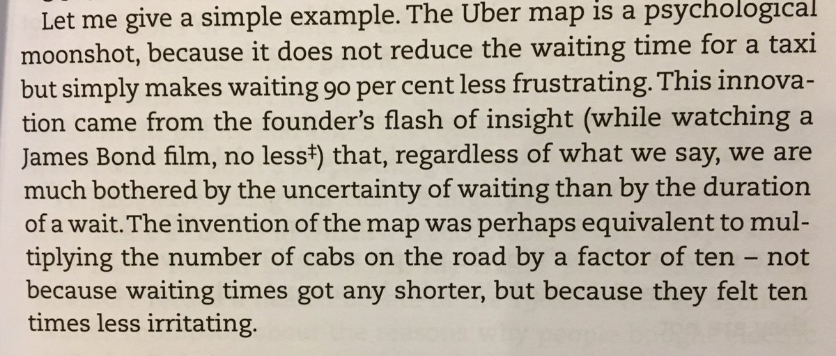 💎 On reframing the frustration of waiting times (by Uber)