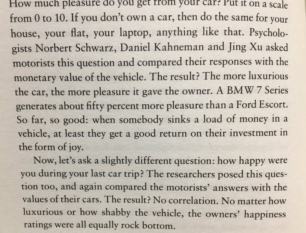 💎 On how higher prices increase joy but not happiness (think about your car)