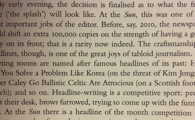 💎 On the power of headline writing (in the newspaper age)
